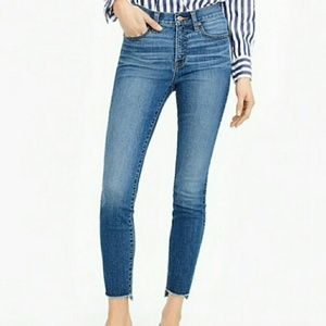 "J.Crew 9"" high-rise tooth pick skinny jeans 28"